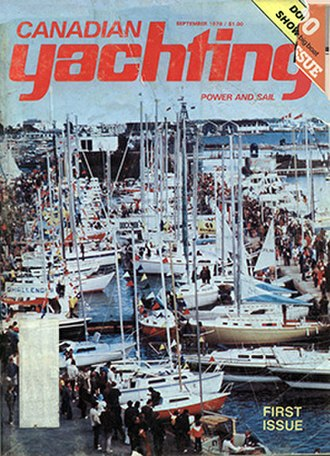 Canadian Yachting - Canadian Yachting Cover, first issue, September 1976