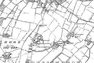 Chessington Hall - 1880s map of Chessington