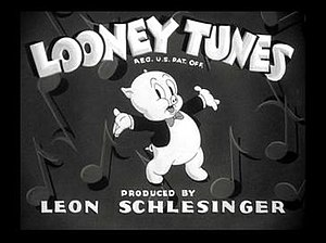 Looney Tunes - Porky Pig in the intro to one of the Looney Tunes shorts in the late 1930s and early 1940s.