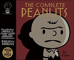The first volume of The Complete Peanuts from Fantagraphics Books with cover design by Seth.