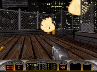 "Duke Nukem 3D - Duke Nukem 3D gameplay at the beginning of the first level (""Hollywood Holocaust"")"