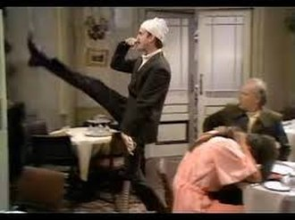 The Germans - Basil Fawlty does the silly walk, offending the German visitors