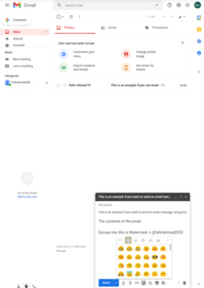 Gmail Email service developed by Google