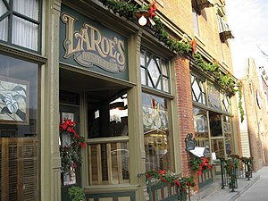 LaRoe's Restaurant, one of the oldest business...