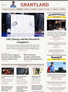 <i>Grantland</i> Sports and pop culture website founded by Bill Simmons and owned by ESPN