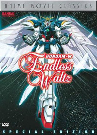Gundam Wing: Endless Waltz - Endless Waltz DVD cover, featuring the redesigned Wing Gundam Zero