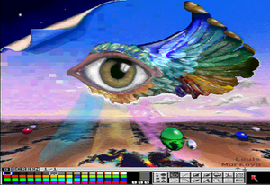 Display resolution - A 4096-color HAM interlaced image produced by an Amiga (1989)
