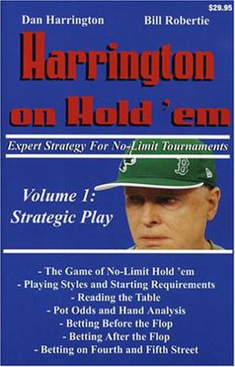 Harrington on Hold 'em - Cover page for the first book in the series