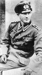 Heinz Heuer Recipient of the Knights Cross