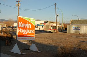 Campaign sign for a federal NDP candidate in t...