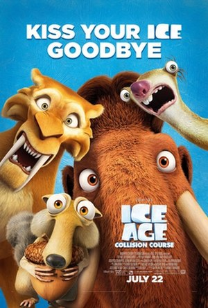 Ice Age: Collision Course - Theatrical release poster