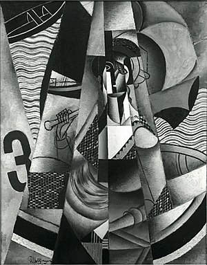 Nazi plunder - Jean Metzinger, 1913, En Canot (Im Boot), oil on canvas, 146 x 114 cm (57.5 in × 44.9 in), exhibited at Moderni Umeni, S.V.U. Mánes, Prague, 1914, acquired in 1916 by Georg Muche at the Galerie Der Sturm, confiscated by the Nazis circa 1936, displayed at the Degenerate Art show in Munich, and missing ever since