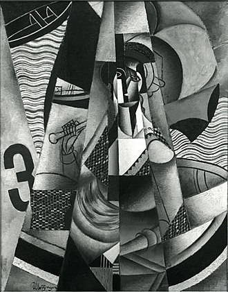 En Canot - Image: Jean Metzinger, 1913, En Canot, oil on canvas, 146 x 114 cm, missing or destroyed