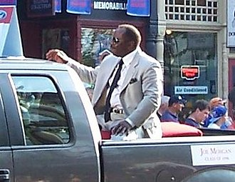Joe Morgan - Morgan in the Baseball Hall of Fame parade in 2011.