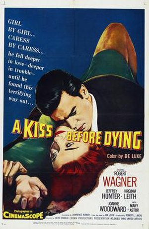 A Kiss Before Dying (1956 film) - theatrical release poster