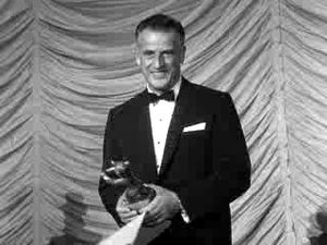 Stanley Kramer - Stanley Kramer receives an Award at the 1960 Berlin Film Festival for Inherit the Wind