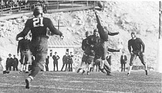 1925 Rose Bowl - Elmer Layden intercepts an Ernie Nevers pass