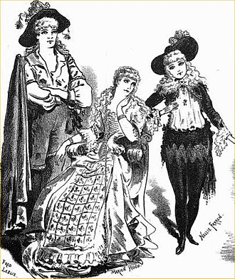 Ruy Blas and the Blasé Roué - Fred Leslie, Marion Hood and Nellie Farren in the Birmingham premiere