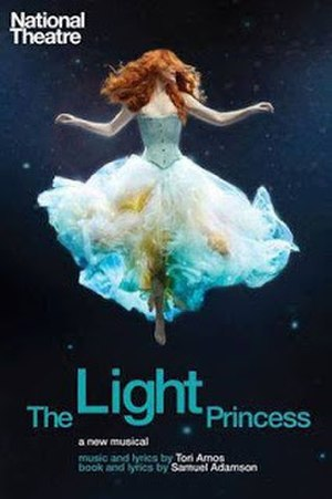 "The Light Princess - The National Theatre's poster for The Light Princess musical featuring Rosalie Craig as the weightless princess ""Althea""."