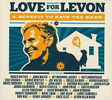 High-contrast image of Levon Helm and the Barn