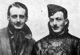RAF Hornchurch - Lt. William Leefe Robinson (left) and Lt. Wulstan Tempest, both of whom shot down enemy airships.