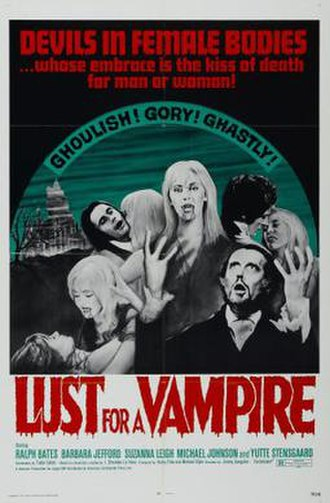 Lust for a Vampire - UK theatrical release poster