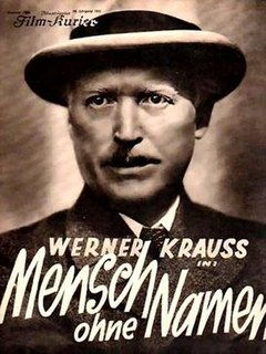 <i>Man Without a Name</i> (1932 film) 1932 film directed by Gustav Ucicky