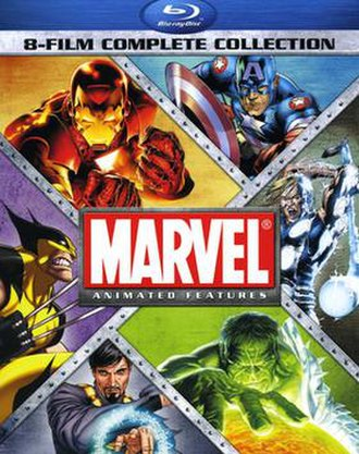 Marvel Animated Features - Cover art for the Marvel Animated Features 8-Film Complete Collection