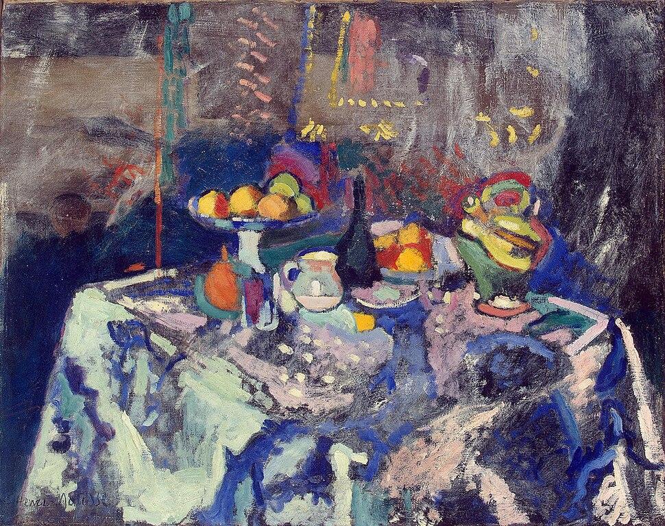 Matisse - Vase, Bottle and Fruit (1906)