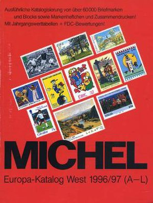Michel catalog - Cover of the 1996 Europa West volume