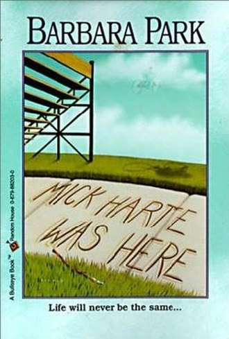 Mick Harte Was Here - First edition cover