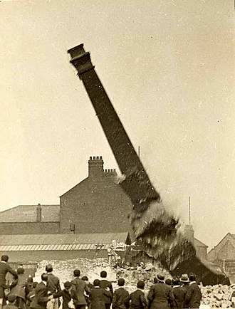 Blackburn - Duke Street Mill being destroyed