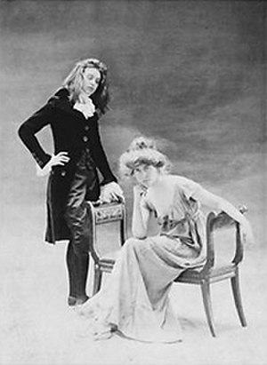 Natalie Clifford Barney - Renée Vivien (left) and Barney posing for a portrait in ''Directoire''-era costume