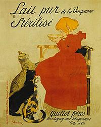 Poster advertisement for Nestle's Milk by Théophile Alexandre Steinlen, 1895