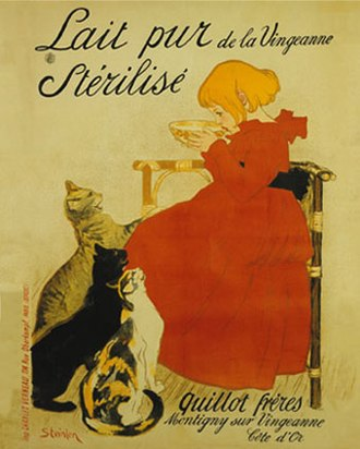 Infant formula - Poster advertisement for Nestle's Milk by Théophile Alexandre Steinlen, 1895