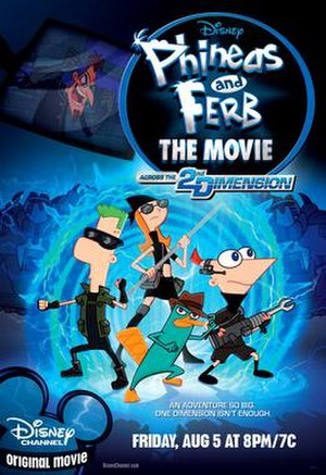 Phineas and Ferb the Movie: Across the 2nd Dimension - Promotional poster