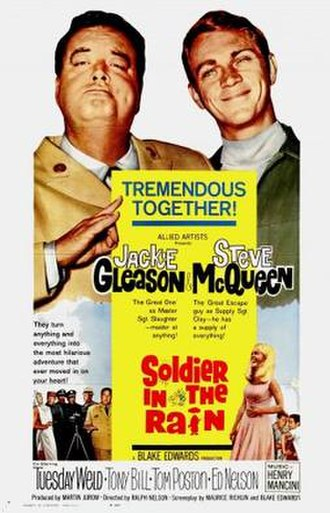 Soldier in the Rain - Jackie Gleason and Steve McQueen in the theatrical release poster