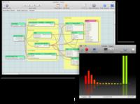 The Quartz Composer interface and an interactive composition