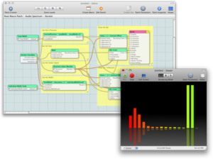 Quartz Composer - The Quartz Composer 3.0 interface.
