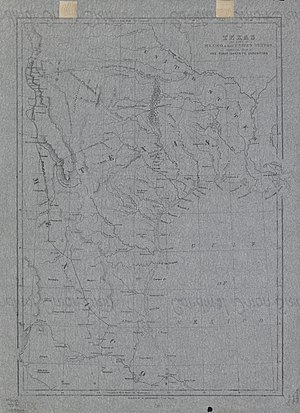 Texan Santa Fe Expedition - Map showing route of the first Santa Fe expedition