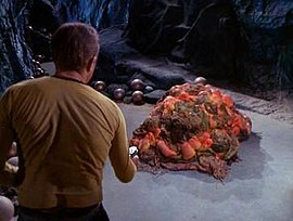 Captain Kirk and the silicon-based Horta (Wikipedia)