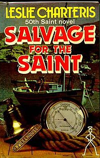 <i>Salvage for the Saint</i> book by Leslie Charteris