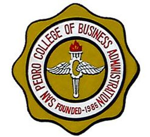 San Pedro College of Business Administration - Image: Sanpedrocollege logo