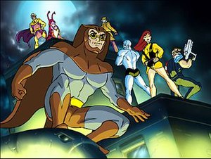 Screenshot of the Watchmen gathered together.