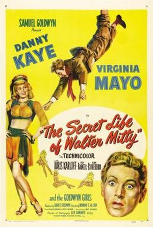 The Secret Life of Walter Mitty (1947 film) - Theatrical release poster