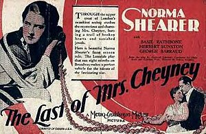 The Last of Mrs. Cheyney (1929 film) - theatrical poster