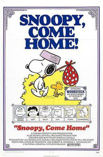 Snoopy, Come Home - Theatrical release poster