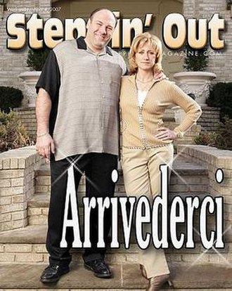 Steppin' Out (magazine) - James Gandolfini and Edie Falco, as Tony and Carmela Soprano, on the cover of the April 4, 2007 issue.