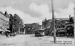 Stoughton, Massachusetts - Stoughton Square c. 1912