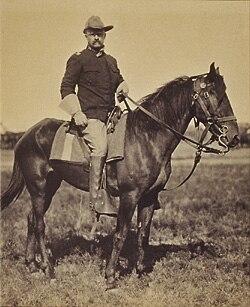 TR On Horseback Back From Cuba 1898